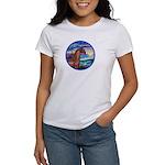 Wave/Horse( Ar-Brn) Women's T-Shirt