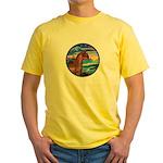 Wave/Horse( Ar-Brn) Yellow T-Shirt