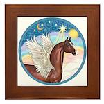 Clouds/Horse (Ar-Br) Framed Tile