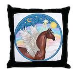 Clouds/Horse (Ar-Br) Throw Pillow