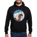 Clouds/Horse (Ar-Br) Hoodie (dark)
