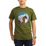 Clouds/Horse (Ar-Br) Organic Men's T-Shirt (dark)