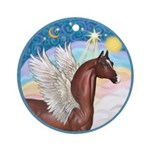 Clouds/Horse (Ar-Br) Ornament (Round)