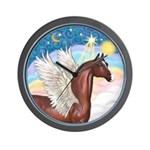 Clouds/Horse (Ar-Br) Wall Clock