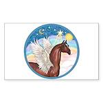 Clouds/Horse (Ar-Br) Rectangle Sticker 10 pk)