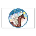 Clouds/Horse (Ar-Br) Rectangle Sticker