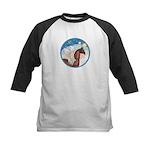 Clouds/Horse (Ar-Br) Kids Baseball Jersey
