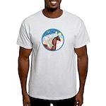 Clouds/Horse (Ar-Br) Light T-Shirt
