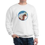 Clouds/Horse (Ar-Br) Sweatshirt