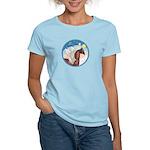 Clouds/Horse (Ar-Br) Women's Light T-Shirt