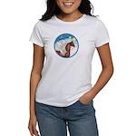 Clouds/Horse (Ar-Br) Women's T-Shirt