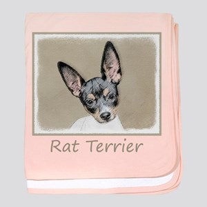 Rat Terrier baby blanket