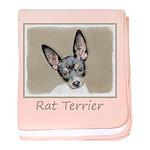Rat Terrier baby blanket