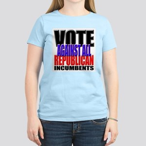 Vote Against All Republican Incumbents Pink TShirt