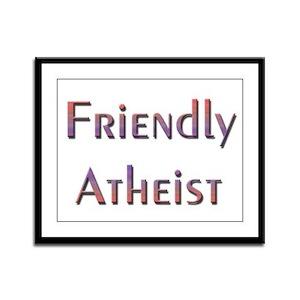 Friendly Atheist Framed Panel Print