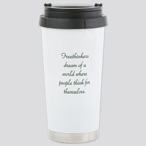 Freethought Quote Stainless Steel Travel Mug