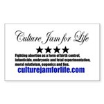 Culture Jam for Life Rectangle Sticker