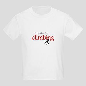 """I'd Rather be Climbing"" Kids T-Shirt"