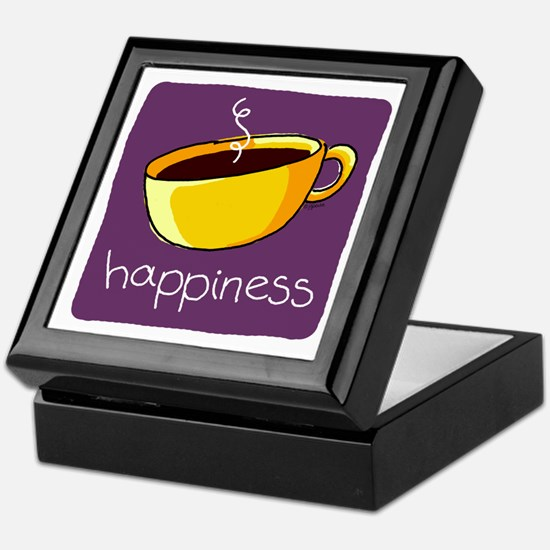 Happiness is Coffee Keepsake Box