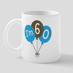 60th Birthday Balloon Mug
