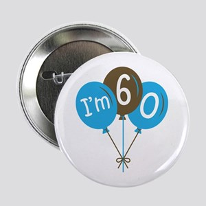 "60th Birthday Balloon 2.25"" Button"