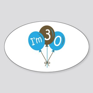 Fun 30th Birthday Oval Sticker