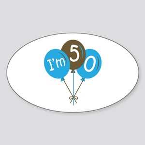 Fun 50th Birthday Oval Sticker