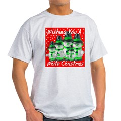 Wishing You A White Christmas Ash Grey T-Shirt