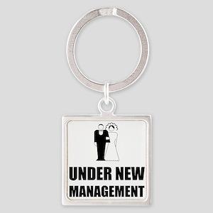 Under New Management Wedding Keychains