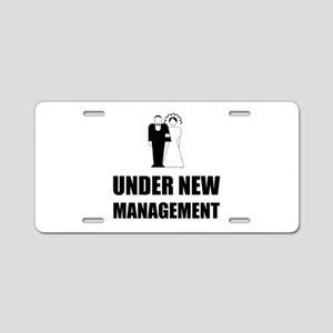 Under New Management Wedding Aluminum License Plat