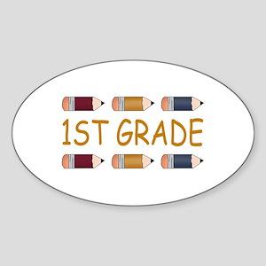 School 1st Grade Oval Sticker