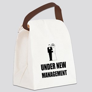 Under New Management Wedding Canvas Lunch Bag