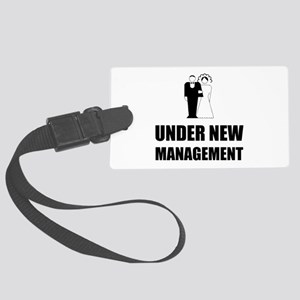Under New Management Wedding Luggage Tag