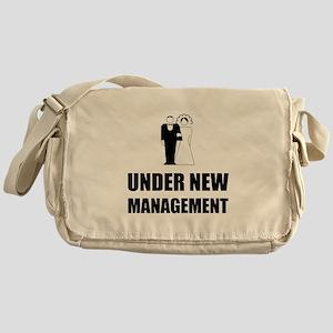 Under New Management Wedding Messenger Bag