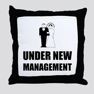 Under New Management Wedding Throw Pillow