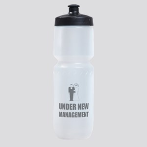 Under New Management Wedding Sports Bottle