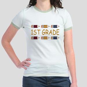 School 1st Grade Jr. Ringer T-Shirt