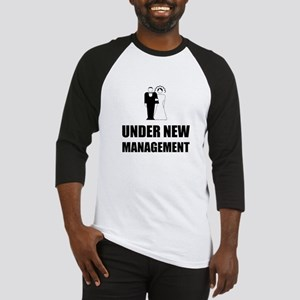 Under New Management Wedding Baseball Jersey
