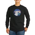 Wave/Horse (Ar-W) Long Sleeve Dark T-Shirt