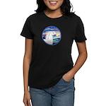 Wave/Horse (Ar-W) Women's Dark T-Shirt