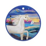 Wave/Horse (Ar-W) Ornament (Round)