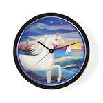 Wave/Horse (Ar-W) Wall Clock