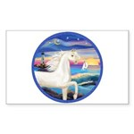 Wave/Horse (Ar-W) Rectangle Sticker