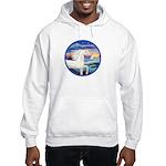 Wave/Horse (Ar-W) Hooded Sweatshirt