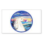 Wave/Horse (Ar-W) Rectangle Sticker 10 pk)