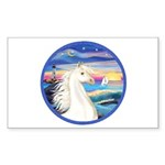 Wave/Horse (Ar-W) Rectangle Sticker 10 pk)