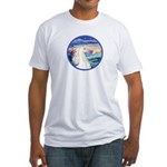 Wave/Horse (Ar-W) Fitted T-Shirt