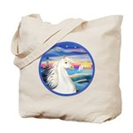 Wave/Horse (Ar-W) Tote Bag