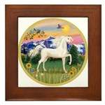 Mt Country/Horse (Ar-W) Framed Tile