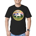 Mt Country/Horse (Ar-W) Men's Fitted T-Shirt (dark